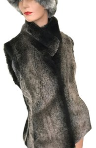 Kristen Blake Fur Faux Fur Fur Faux Chinchilla Machine Washable Vest