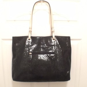 Wilsons Leather Suede Wilson Tote in Black, White