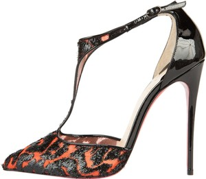 Christian Louboutin Orange & Black Pumps
