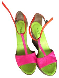 Nanette Lepore Electric multicolor - pink, orange, yellow Wedges
