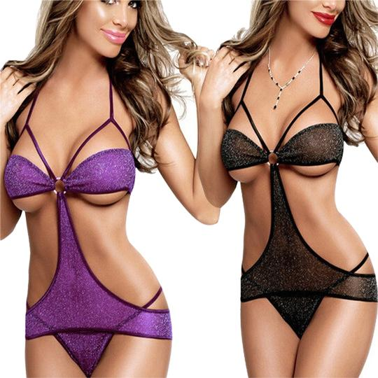 Preload https://img-static.tradesy.com/item/14859439/purple-sexy-sparkly-teddy-lingerie-with-o-ring-and-matching-thong-0-1-540-540.jpg