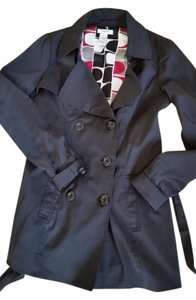 Vertigo Paris Trench Coat Rain Coat Trench Rain Black Jacket