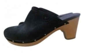 American Eagle Outfitters Black and Tan Mules