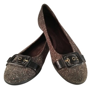 Aerosoles Patent Buckle Brown tweed Flats