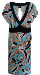 Aqua Multi Maxi Dress by Torrid Plus-size Jersey Keyhole