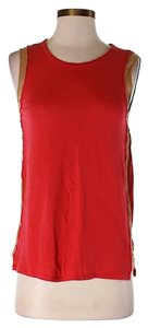 Sandro Linen Panel Top red