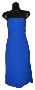 Express short dress Blue Strapless Slit Juniors Stretchy on Tradesy