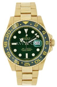 Rolex Rolex GMT-Master II 18K Yellow Gold Watch Green Dial Ceramic Bezel