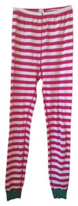 Hanna Andersson Pajama Pants Long Johns Stripes Kids White, red, green Leggings