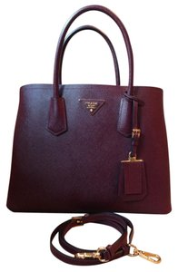 Prada Tote in Ox Blood