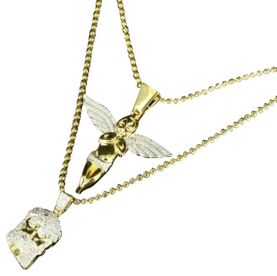 Preload https://img-static.tradesy.com/item/14860270/gold-classy-lab-diamond-sterling-silver-finish-jesus-angel-chain-combo-pack-gift-necklace-0-1-540-540.jpg