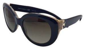 Tory Burch Navy and Natural Oversized Butterfly Sunglasses