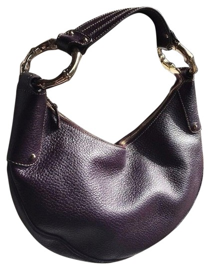 Preload https://item1.tradesy.com/images/gucci-bamboo-ring-half-moon-hand-purse-purple-pebbled-leather-hobo-bag-14860390-0-1.jpg?width=440&height=440