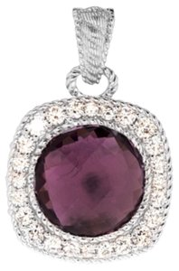 Judith Ripka Judith Ripka NWOT 9.5 ct Amethyst and Diamonique Enhancer Pendant