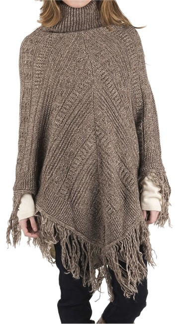 Preload https://item5.tradesy.com/images/romeo-and-juliet-couture-khaki-women-s-turtleneck-cable-knit-ponchocape-size-10-m-14860804-0-1.jpg?width=400&height=650