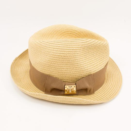 Tory Burch Tory Burch Classic Grossgrain Fedora Hat - Natural/Sand - One Size Image 1