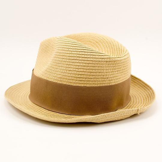 Tory Burch Tory Burch Classic Grossgrain Fedora Hat - Natural/Sand - One Size Image 2