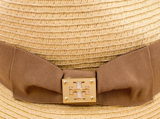 Tory Burch Tory Burch Classic Grossgrain Fedora Hat - Natural/Sand - One Size Image 3
