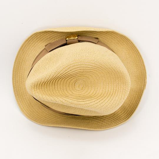 Tory Burch Tory Burch Classic Grossgrain Fedora Hat - Natural/Sand - One Size Image 6