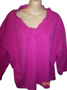 Just My Size Pullover Casual T Shirt pink