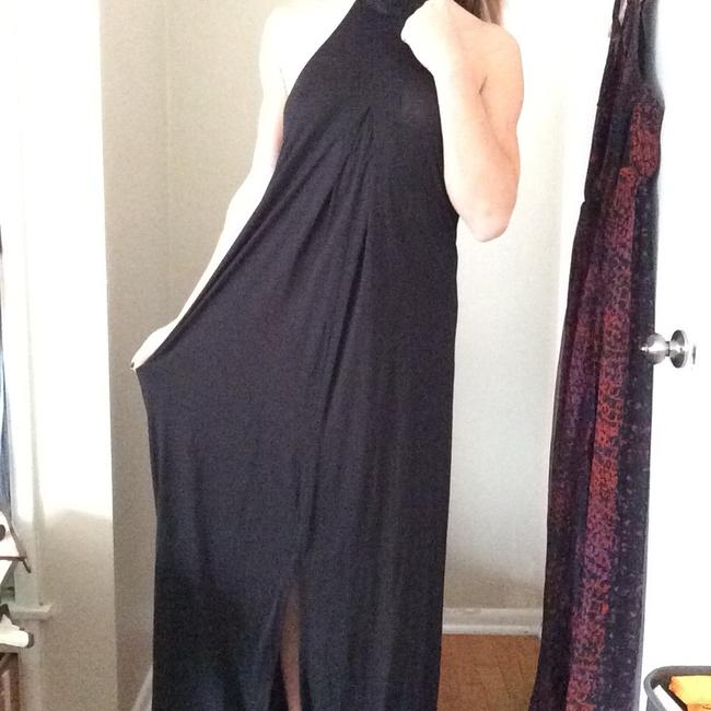 Free People Low Choker Kneck Front Slit Gown Dress