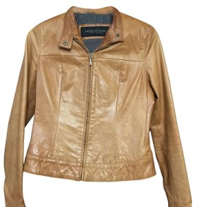 American Base Camel Leather Jacket