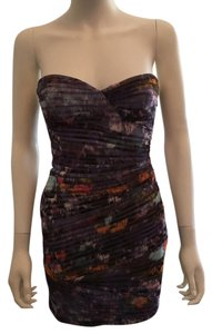 BCBGMAXAZRIA Strapless Dress Bcbg Mini Top Purple , white , blue, pink , orange