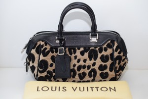 Louis Vuitton Baby Lv Limited Edition Satchel in Leopard and black
