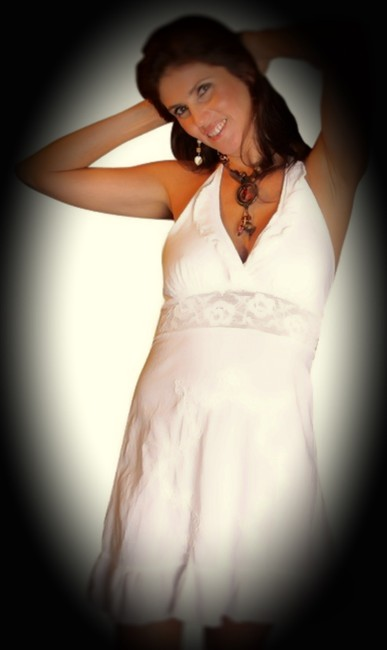 Lirome short dress White Embroidered Cottage Chic Sexy Lace Empire Waist on Tradesy