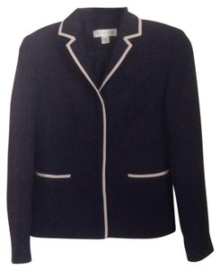 Petite Sophisticate Navy with cream trim Blazer