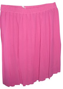 Esprit Sheer Short Pleated Bright Pink Large Skirt