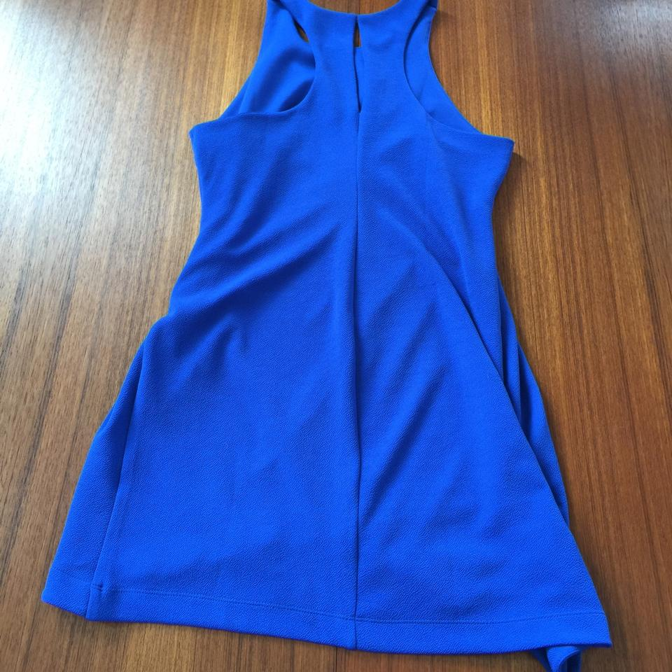 40d5aa3a54 Leith Blue Stretch Crepe Tank Above Knee Short Casual Dress Size 12 ...