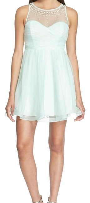 Preload https://item5.tradesy.com/images/sequin-hearts-mint-embellished-halter-above-knee-formal-dress-size-8-m-14861899-0-2.jpg?width=400&height=650
