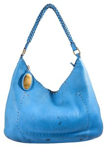 Fendi Selleria Pebbled Leather Hobo Bag