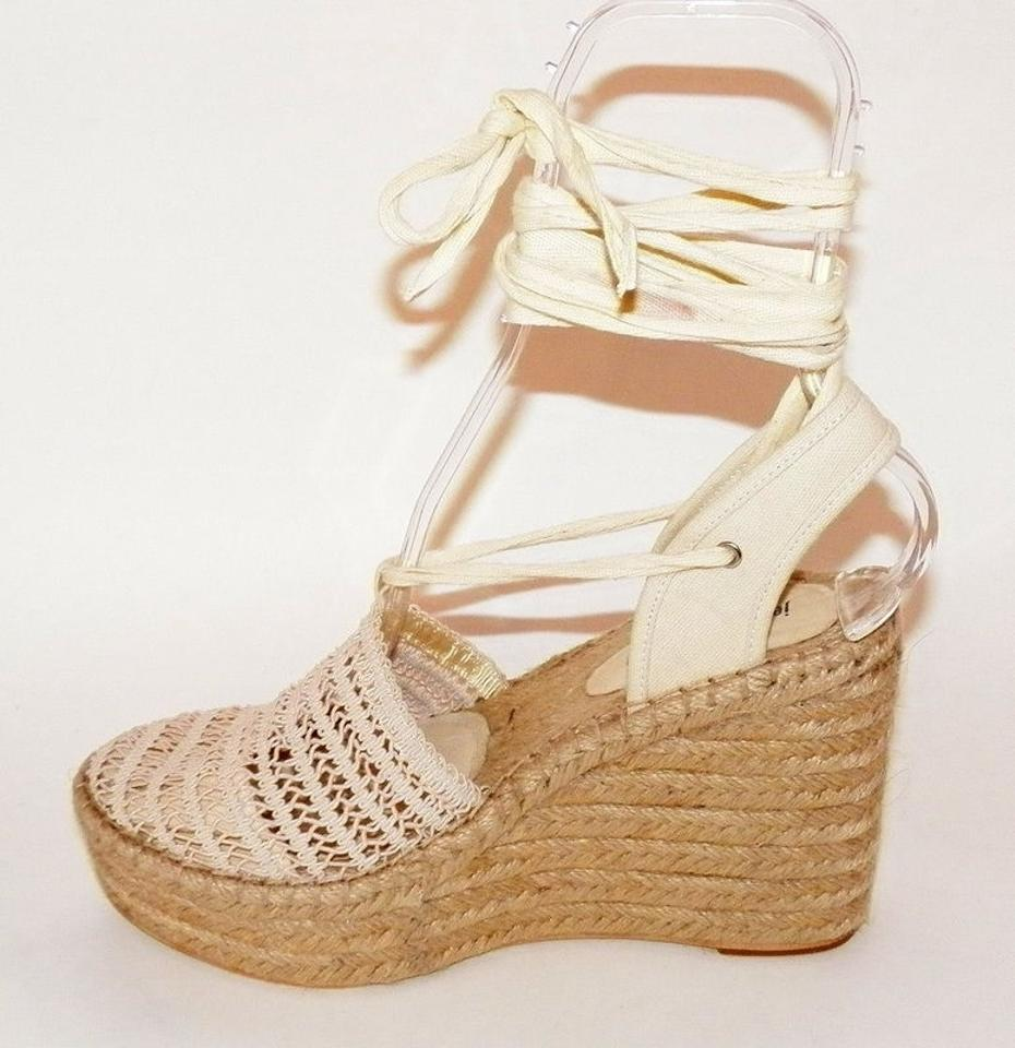 629fa73f9f3 Current Jeffrey Campbell Libra Crocheted Espadrille Wedges Ankle Tie