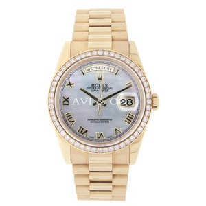Rolex Rolex Day-Date 36 18K Yellow Gold Watch Diamond Bezel 118208
