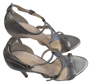 Claudia Ciuti Strappy Sangdals pewter Sandals
