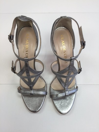 Claudia Ciuti Strappy High Go Out Formal Evening pewter Sandals
