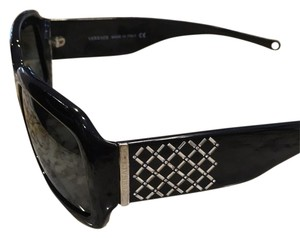 Versace Black Versace Embellished Sunglasses