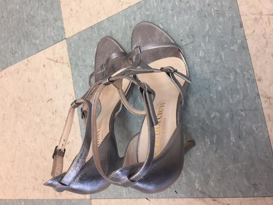 Claudia Ciuti High Formal Strappy Evening Go Out pewter Sandals
