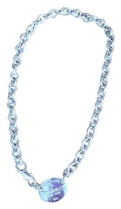 Tiffany & Co. Tiffany Oval Tag Necklace