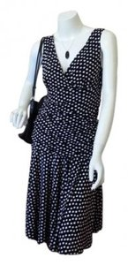 Black with white polka dots Maxi Dress by Dress Barn