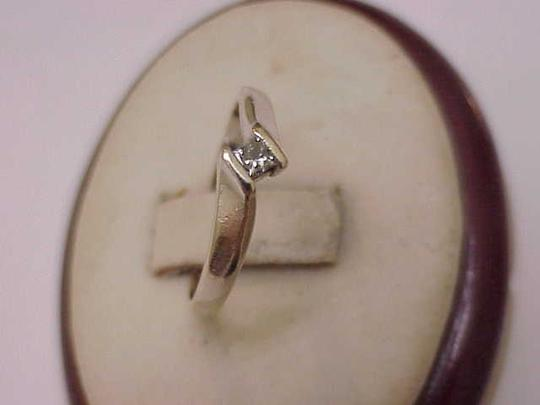 Other Estate Vintage 14k White Gold Engagment .18ct Diamond Ring ,1950's