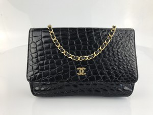 Chanel Vintage Crocodile Shoulder Bag