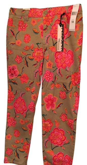 Preload https://item4.tradesy.com/images/jones-new-york-tan-with-floral-patterned-straight-leg-jeans-size-35-14-l-14863303-0-1.jpg?width=400&height=650