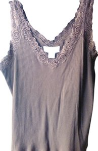 August Silk Lace Top chocolate brown