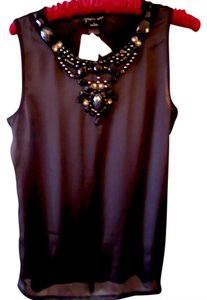 August Silk Style Top Black