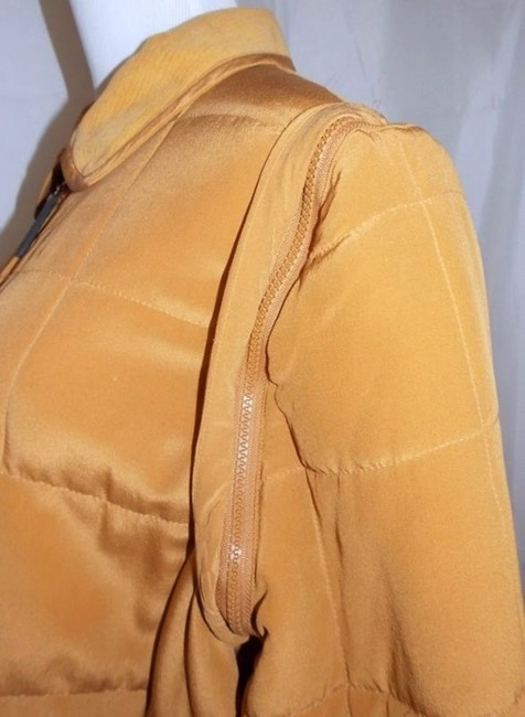 Diane von Furstenberg Dvf Silk Assets Silk Zip Off Sleeves Gold Jacket