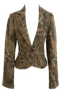 Guess Casual Business Brown floral tweed Blazer