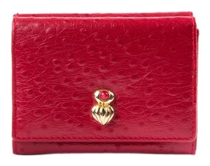 Red Embossed Leather Wallet